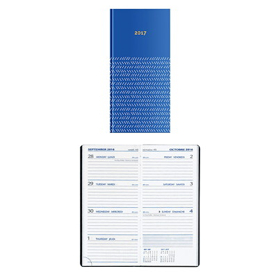 "PB WEEKLY PLANNER  HRD COVER RICH BLUE  6 3/4""X3 1/4"""