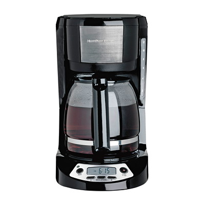 Hamilton Beach 12-Cup Coffeemaker with Programmable LCD Clock PROGRAMMABLE LCD CLOCK