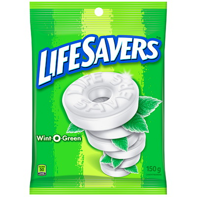 LifeSavers Wint-O-Green Mints, 150 g  INDIVIDUALLY WRAPPED