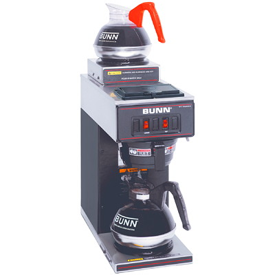 Bunn 24-Cup Coffee Maker 2 BURNERS CSA APPROVED FILTERS-90042 DECANTERS-8890