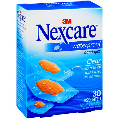 Nexcare Waterproof Bandages ASSORTED SIZES