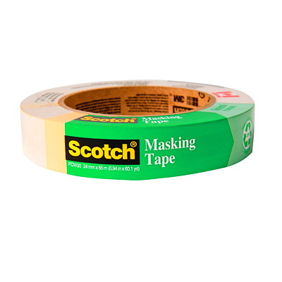 PAINT MASKING TAPE 24MM X 55M SCOTCH GENERAL  BEIGE