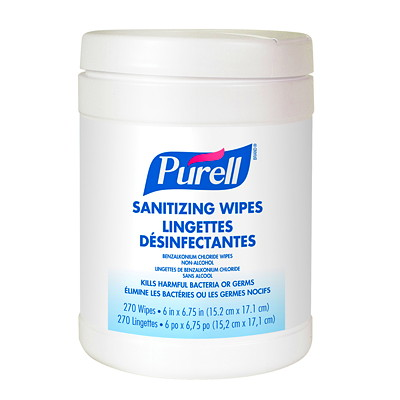 Purell Non-Alcohol Sanitizing Wipes, 270/PK