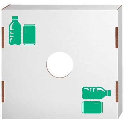 Bankers Box Lid for Waste and Recycling Bin, Bottles/Cans, 10/CT FITS ON 42 OR 50 GALLON BIN REUSABLE  RECYCLABLE
