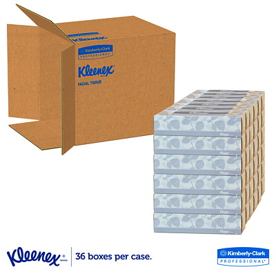 Kleenex 2-Ply Flat Box Facial Tissue, White, 100 Sheets/BX 2-PLY FLAT BOX