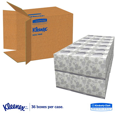 Kleenex 2-Ply White Facial Tissues CUBE BOX 2-PLY