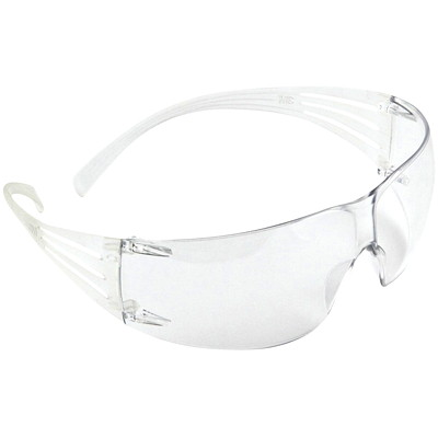 3M SecureFit Protective Eyewear  CLEAR LENS W/CLEAR TEMPLE ANTI-FOG LENS  3M