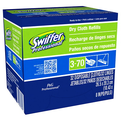 Swiffer Professional Dry Cloth Refills, 32/Box REPLACED 3560SR
