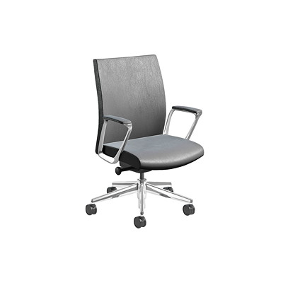 Nightingale EC 3 Series Executive Chair MID BACK EXECUTIVE CHAIR FIXED ARMS  LEATHER PLUS