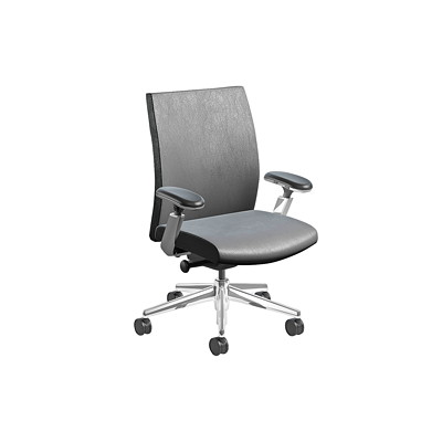 Nightingale EC 3 Series Executive Chair MID BACK EXECUTIVE CHAIR ADJUSTABLE ARMS  LEATHER PLUS
