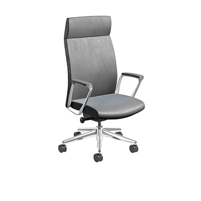 Nightingale EC 3 Series Executive Chair HIGH BACK EXECUTIVE CHAIR FIXED ARMS  LEATHER PLUS