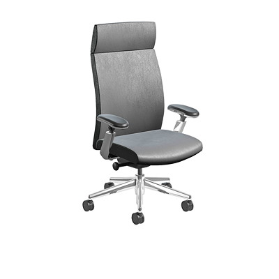 Nightingale EC 3 Series Executive Chair HIGH BACK EXECUTIVE CHAIR ADJUSTABLE ARMS  LEATHER PLUS
