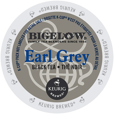 Bigelow Single-Serve Tea K-Cup Pods, Earl Grey Black Tea, 24/BX FOR USE WITH KEURIG SINGLE CUP KB145  KB200 AND KB155
