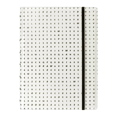 Filofax Impressions Notebook 112 RULED PAGES  REFILLABLE BLACK AND WHITE TEXTURED COVER