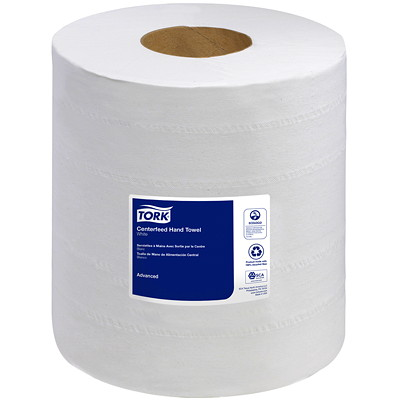 """Tork 2-Ply Advanced Soft Centerfeed Hand Paper Towels, White, 610 Sheets/Roll, 6/CT WHITE 2-PLY 8.27""""X600' 610 SHEETS/ROLL"""