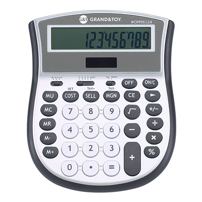 Calculatrice Grand & Toy CHIF ALIM ENERGIE SOL ECRAN TRES GRAND  REMPLACE 97227