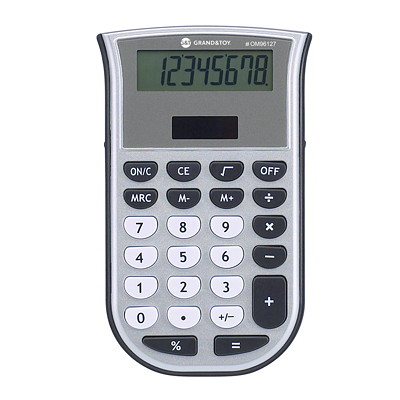Calculatrice Grand & Toy DOUBLE ALIMENTATION MEMOIRE REMPLACE 97225