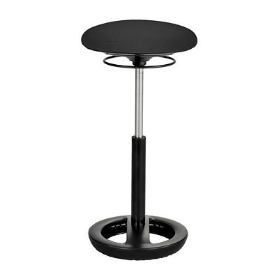 Tabouret ergonomique Twixt Safco, hauteur accrue, noir, tissu EXTENDED HEIGHT BLACK FOCAL UPRIGHT