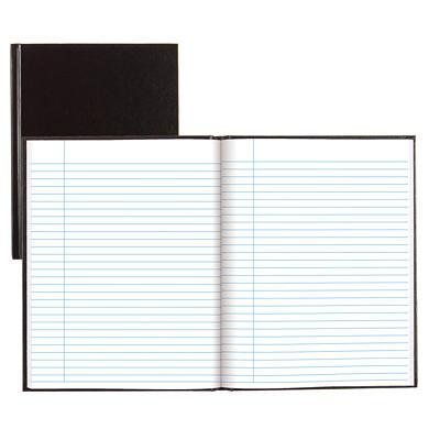 "Blueline 9 1/4"" x 7 1/4"" Record Book RULED W/ MARGIN STIFF VINYL- COATED COVER BLUELINE"