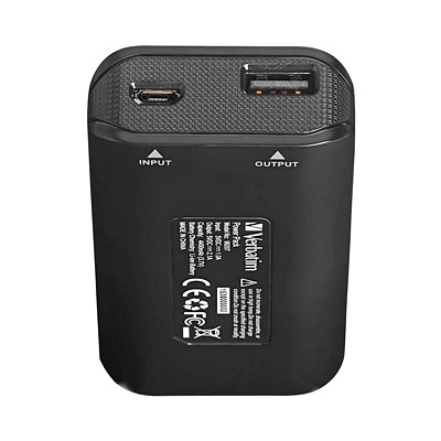 Verbatim Portable Power Pack - external battery pack - Li-Ion PORTABLE - BLACK LED STATUS INDICATOR