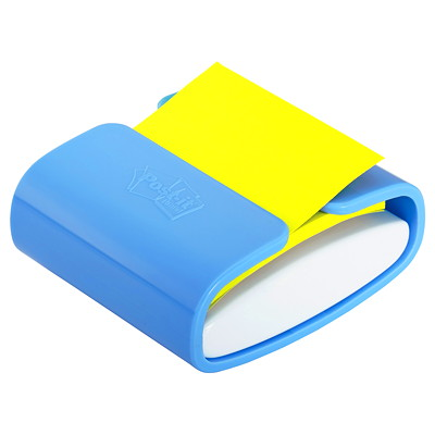 "Post-it 3"" x 3"" Pop-Up Notes Periwinkle Dispenser with Canary Yellow Notes"