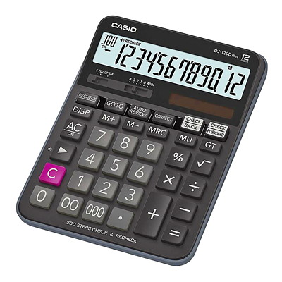 Calculatrice de vérification DJ-120D Plus Casio 12 DIGIT  LARGE LCD DISPLAY 300 STEP REVIEW \EDIT