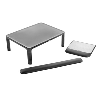 3M SLIM WORKSPACE COLLECTION MONITOR STAND  MOUSE PAD WRIST REST KIT