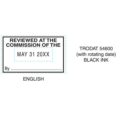 "Trodat Professional Heavy-Duty Self-Inking Custom Daters IMPRINT SIZE 1-5/16"" X 2-1/4"" UP TO 4 LINES"