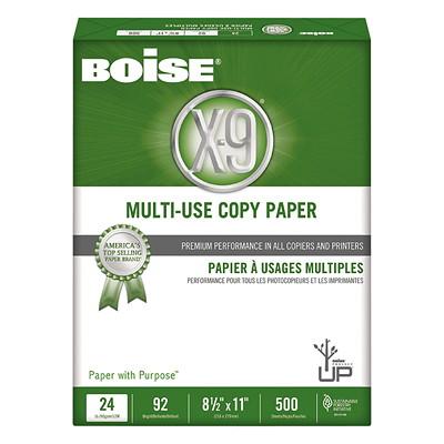 "Boise X-9 Multi-Use Copy Paper, 24 lb., White, Letter-size (8 1/2"" x 11""), Ream"