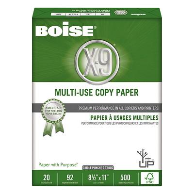 Papier à usages multiples X-9 Boise, rame CERTIFIé FSC 500 FEUILLES  10 RAMES