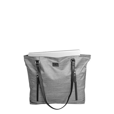 Roots Textured Business Computer Satchel 2 FRONT POCKETS GREY
