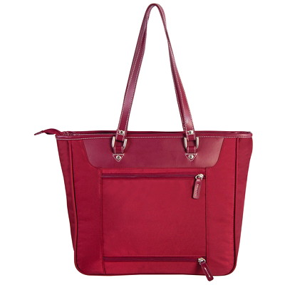 Roots Computer Business Tote LARGE FRONT POCKET BORDEAU