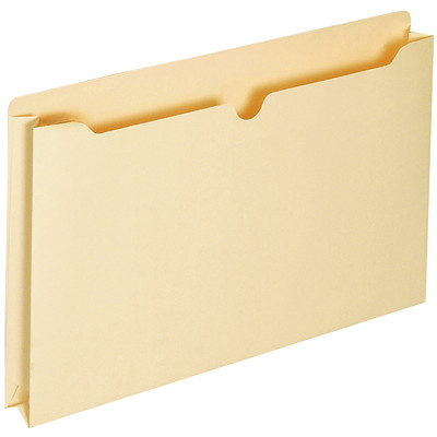 "LGL FILE POCKETS  TOP TAB 1.5"" EXP  MANILLA"