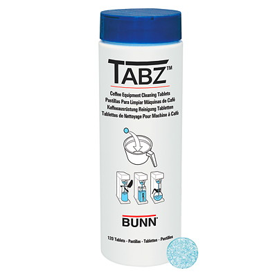 Bunn TABZ Coffee Brewer Cleaning Tablets BOTTLE OF 120 TABLETS