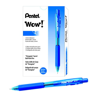 Pentel WOW! Retractable Ballpoint Pens, Medium 1.0 mm MEDIUM