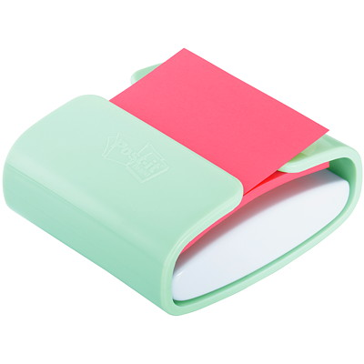 "Post-it 3"" x 3"" Pop-Up Notes Mint Dispenser with Pink Notes INCL. 90 3""X3"" NOTES IN PINK"