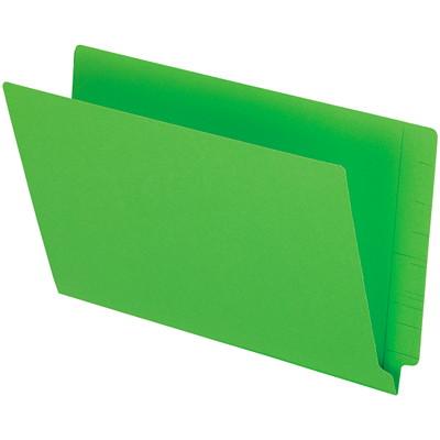 "Pendaflex Green Coloured Straight Tab Legal-size (8 1/2"" x 14"") Shelf File Folders PENDAFLEX 10%PCW STRAIGHT TAB"