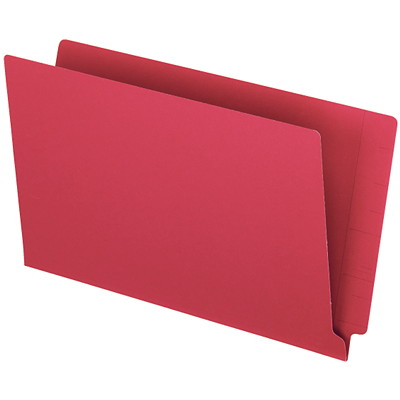 """Pendaflex Red Coloured Straight Tab Legal-size (8 1/2"""" x 14"""") Shelf File Folders PENDAFLEX 10%PCW STRAIGHT TAB"""