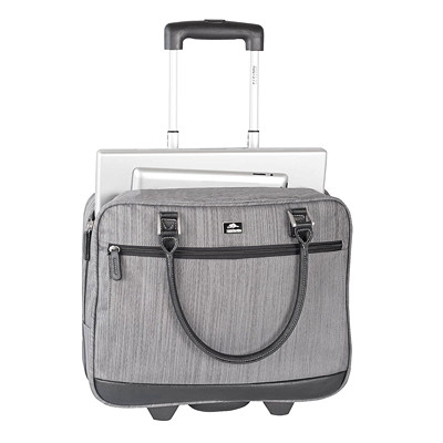 Roots Veronik Textured Wheeled Laptop Business Case  ON WHEELS GREY