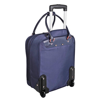 Mallette professionnelle pour portable en nylon Roots ON WHEELS NAVY