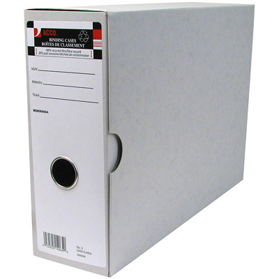 """Acco Arch File Binding Cases, Grey, #2, Letter-Size FOR 8-1/2 X 11-1/2"""" PAPERS SUB FOR 99064  100% RECYCLED"""