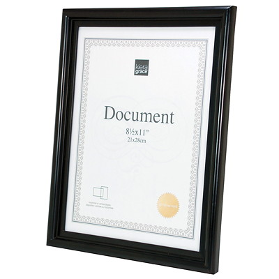 Kiera Grace Embassy Document Frame BLACK