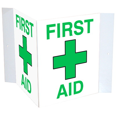 Safety Media 3D First Aid Plastic Sign  SELF ADHESIVE  MOUNTING UV RESISTANT PRINTING