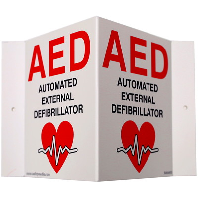 Safety Media 3D Automated External Defibrillator (AED) Plastic Sign	 SELF ADHESIVE  MOUNTING UV RESISTANT PRINTING