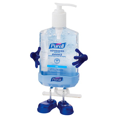 Purell Pal Hand Sanitizer Desktop Caddy for 236 mL Pump Bottle, Blue FOR THE 8-OZ PURELL