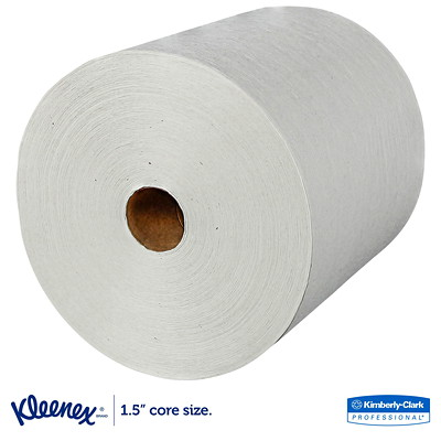 Kleenex Absorbent Hard Roll White Hand Towels  8INX600FT 40% RECYCLED CONTENT