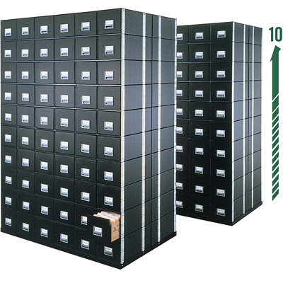 Bankers Box Staxonsteel Drawer File, Letter Size 12-1/4WX10-1/2HX24 STAX-ON- STEEL FRAME SELF STACKING WIRE