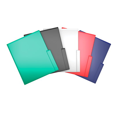 Davis Group QuickFit Project File Folders, Red, Letter Size, 5/PK