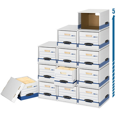 """Bankers Box Stax Cubes LGL/LTR - 65% RECY/59% PCW STORES 15"""" DEEL FILE BOXES"""