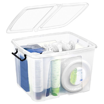 CEP Strata Polypropylene Smart Box 40 LITRE STORAGE CAPACITY SPLIT LID WITH LOCKING HANDLES